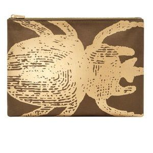 India Hicks Golden Boy Clutch - Army - New